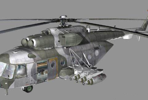 Mi-171Sh rockets 3D model