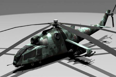 Mi-24A Hind 3D model