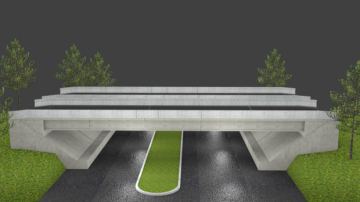 3D Modern bridge model