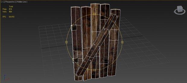 3D Old Door model