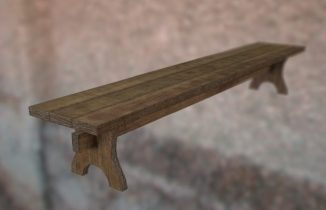 Old dirty bench 3D model