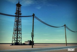 3D Petrol tower