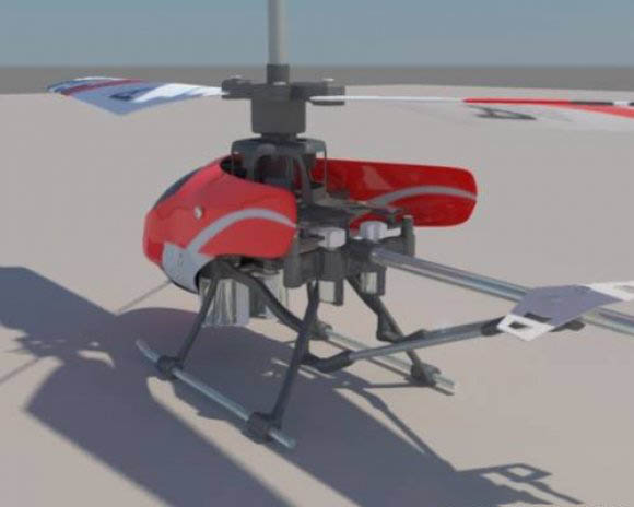 RC Helicopter 8008 3D model