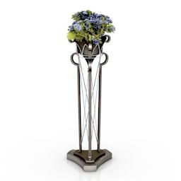 Rack flowers 3d model