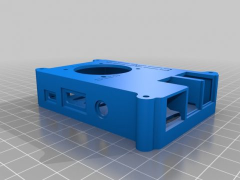 3Raspberry Pi 3 Case with 40 mm fan and without vesa mount model