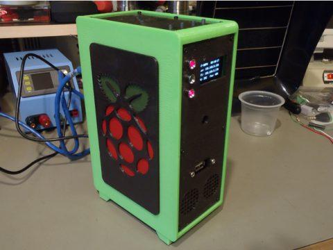 Raspberry Pi Desktop Tower Case 3D model
