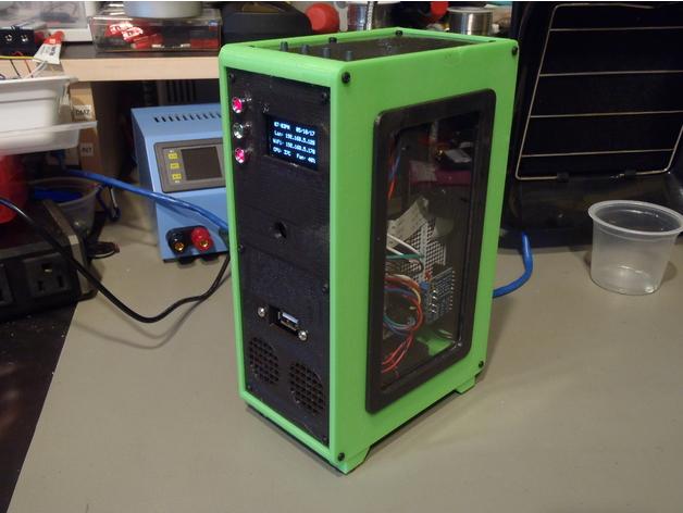 Raspberry Pi Desktop Tower Case   Free 3D models
