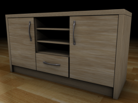 Sideboard and Tv unit 3D model