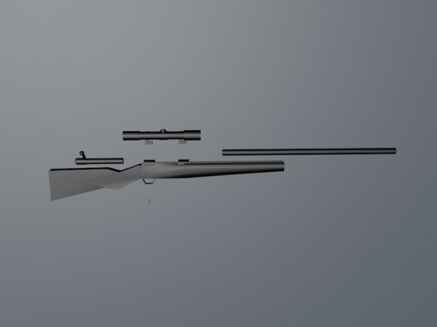 Sniper Rifle Low Poly Pack