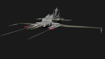 3D Space Cruiser model
