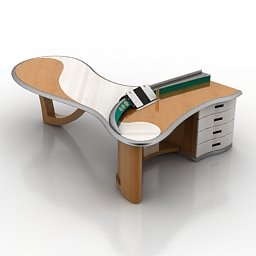 Table office concept 3d model download