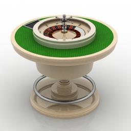 Table roulette 3d model download