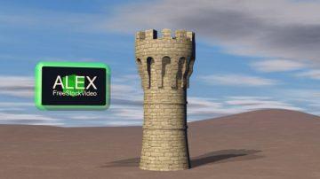 Tower castle 3D model