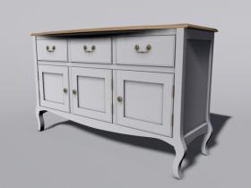 Traditional meets modern Dresser unit 3D model