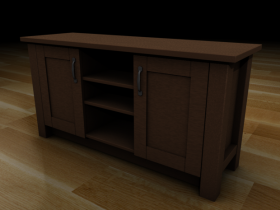 Two door tv unit 3D model