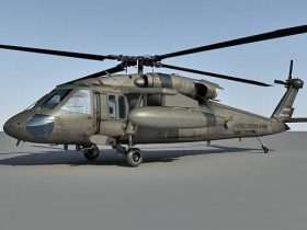 UH-60 Blackhawk Helicopter 3D model