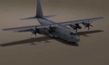 US C 130 Hercules Airplane 3D model