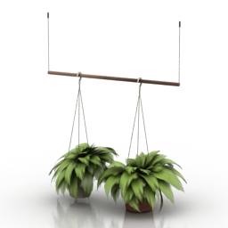 Vase fern 3d model
