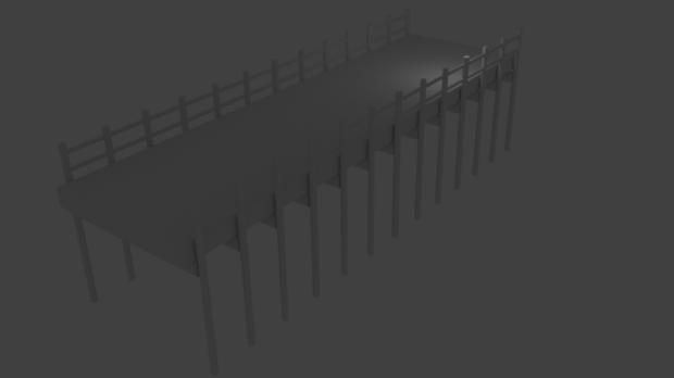 Water Bridge 3D model