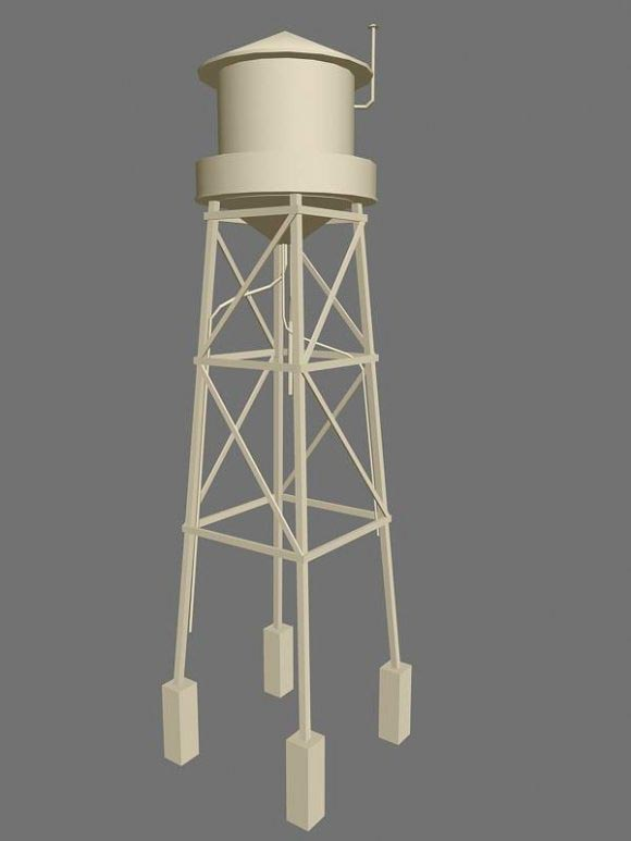 Water tower unfinished 3D model