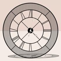 Wide Clock 3D model