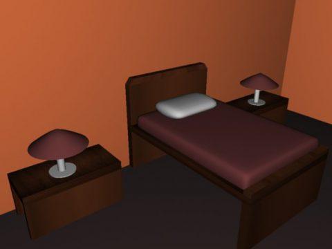 Basic room 3D model