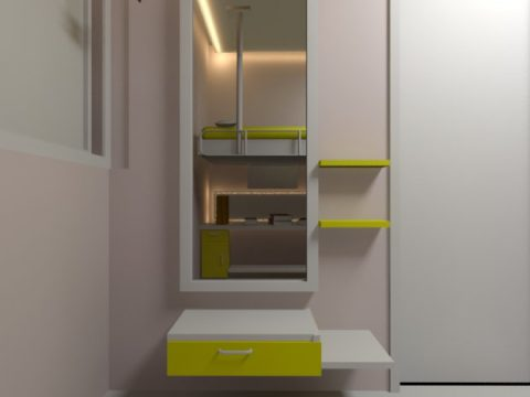 Children room interior 3D model