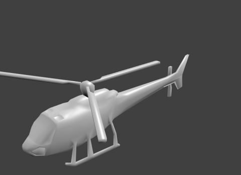 Low poly helicopter model 3D model