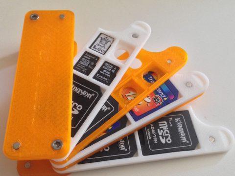 SD/microSD holder customizable 3D model