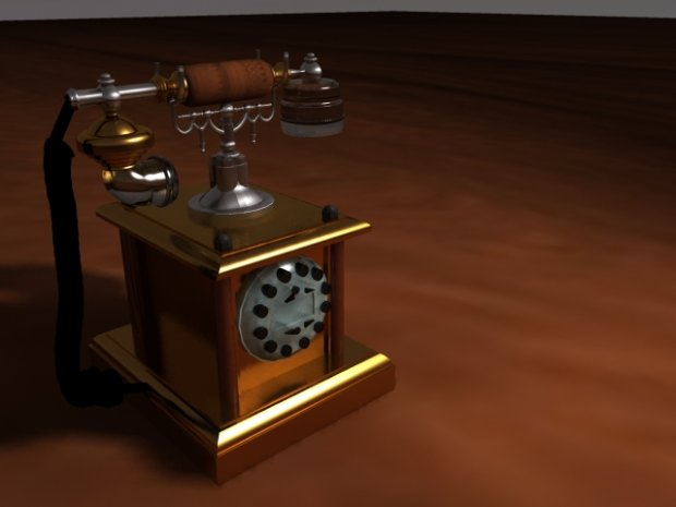 Old telephone | Free 3D models