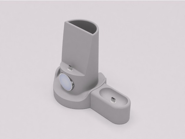 Apple Watch + iPhone Stand + AirPods Charger with ...