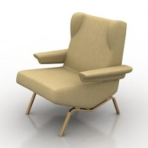 Armchair Ligne Roset 3d model