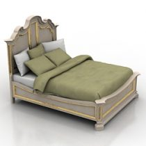 Bed Stanley Grand Continental Maison 3d model