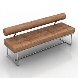 Bench Barcelona 3d model