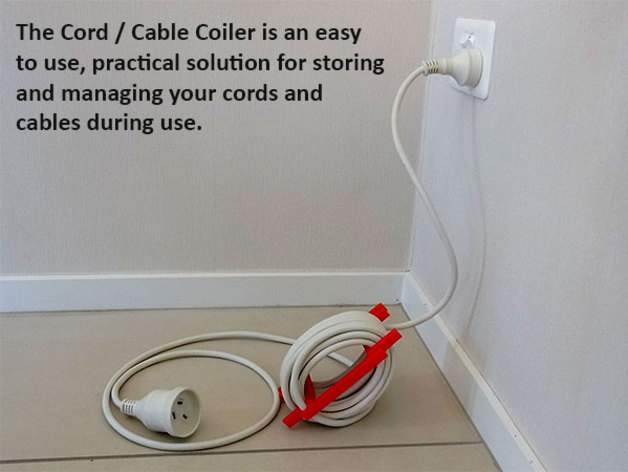 3D Cord / Cable Coiler model
