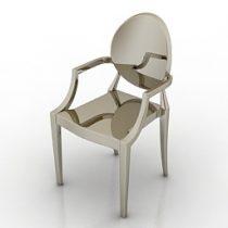 Chair Louis Ghost Phillip Starck 3d model