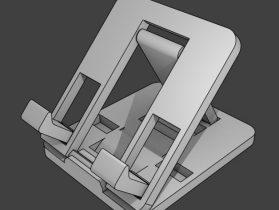 Flat-fold Flippin' Phone Stand 3D model