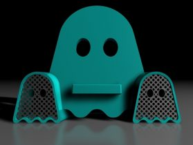 Ghostly Vinyl - Phone amplifying dock 3D model