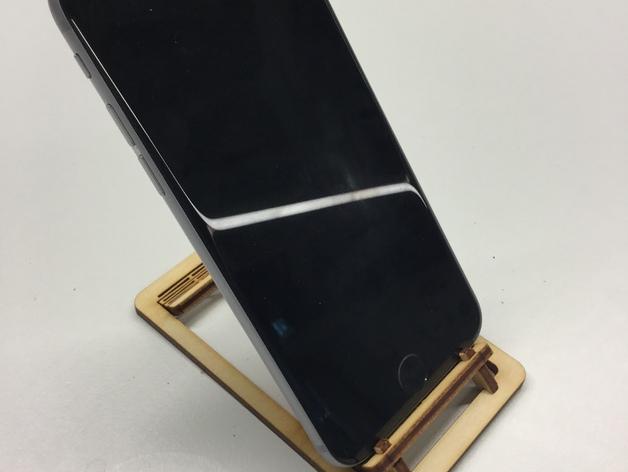 Laser Cut Living Hinge Phone Stand Free 3d Models