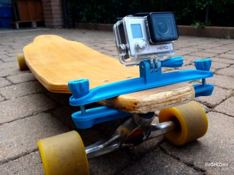 Longboard clamp for GoPro camera 3D model