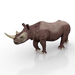 Rhino Black Animal 3d model