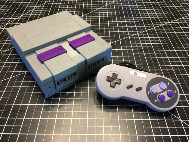 SNES (Super Nintendo) Mini Raspberry Pi 3 Case 3D model