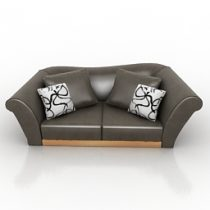 Sofa FENDI 3d model