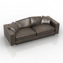 0076b2816f40 Sofa Fendi MAGNUM · Sofa MERIDIANI 3d model