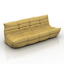 Sofa Togo Ligne Roset 3d model