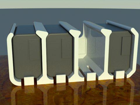 Sony NP-FW50 battery holder 3D model
