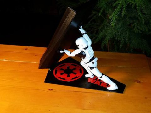 3D Star Wars Stormtrooper Universal Intergalactic Cellphone Charging Stand model