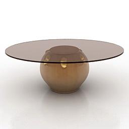 Table Tonin Habitat 3d model