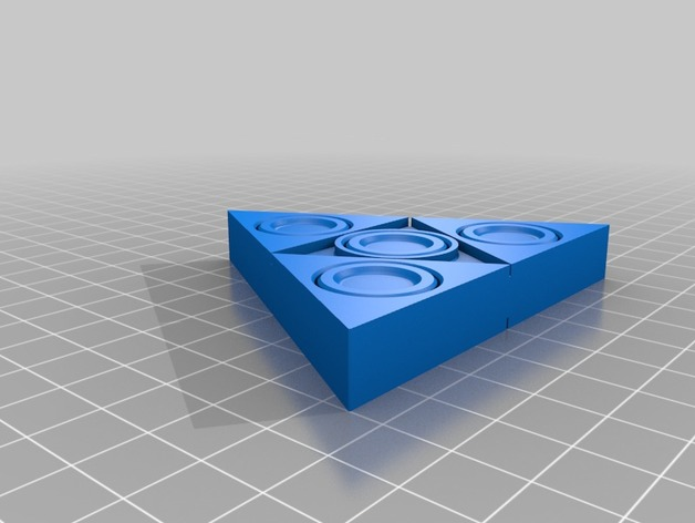 Triforce Fidget Spinner 3D model