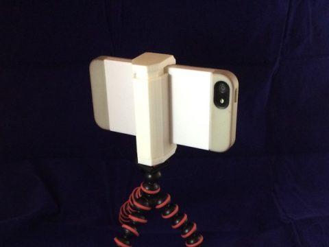 Adjustable phone tripod mount/stand 3D model